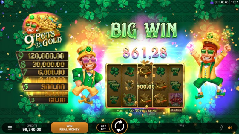 9 Pots of Gold :: Big Win