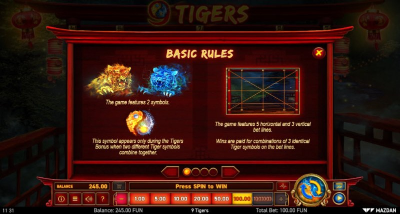9 Tigers :: Basic Game Rules