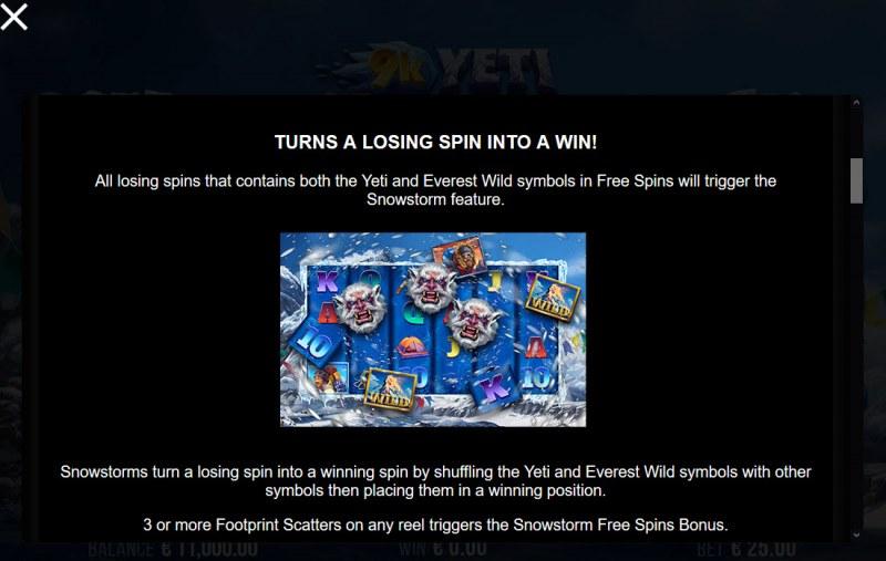 9K Yeti :: Free Spins Rules