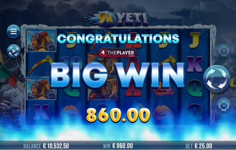 9K Yeti :: Total free spins payout