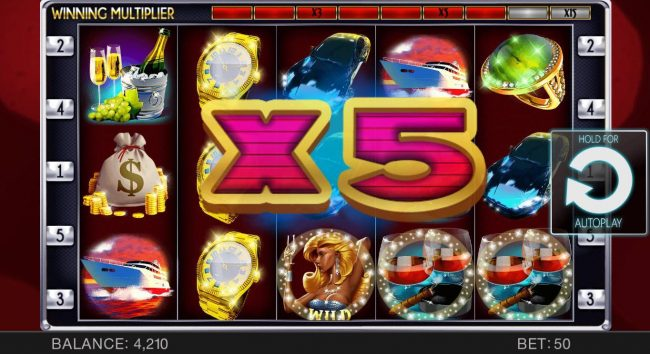 Unique Casino featuring the Video Slots 9 Figures Club with a maximum payout of $16,000