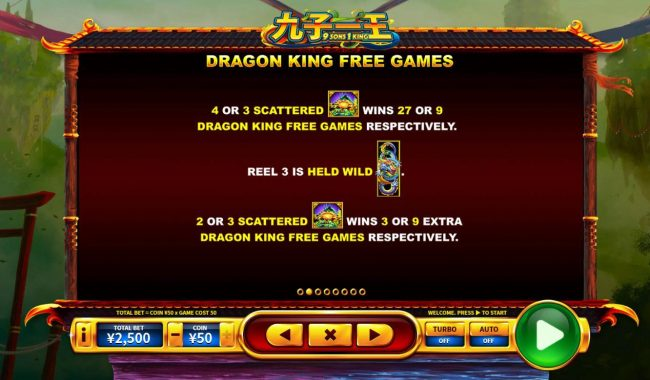 9 Sons, 1 King :: Dragon King Free Games Rules