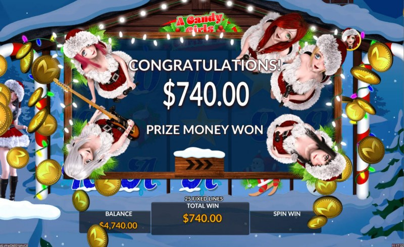 A Candy Girls Christmas :: Total free spins payout