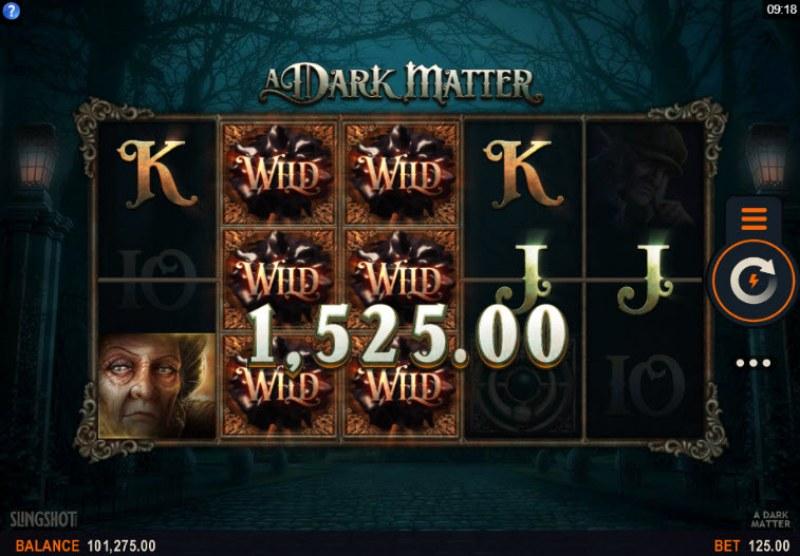 A Dark Matter :: Stacked wilds trigger multiple winning combinations
