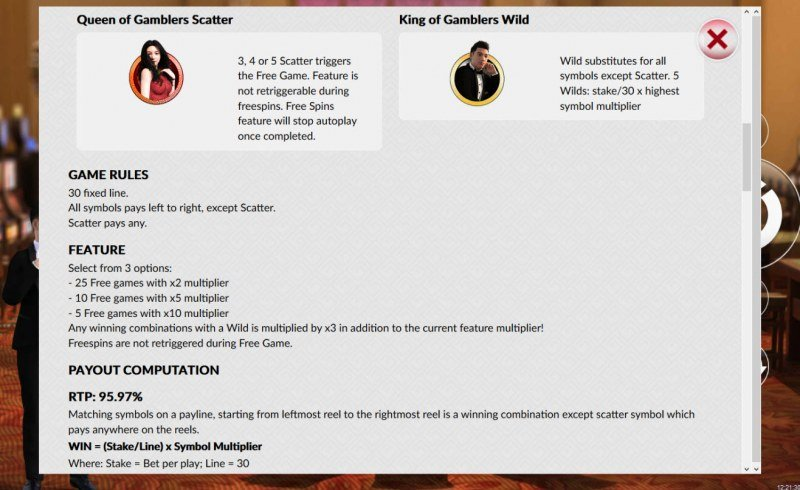 A King of Gamblers :: Wild and Scatter Rules