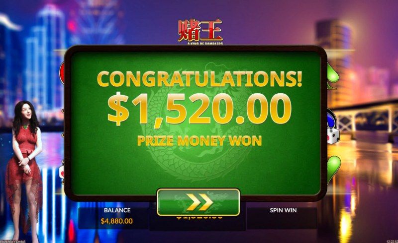 A King of Gamblers :: Total free spins payout