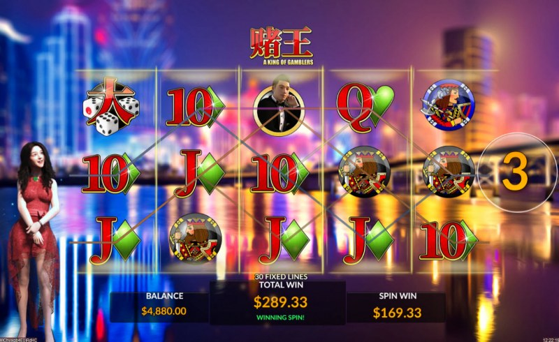 A King of Gamblers :: Free Spins Game Board