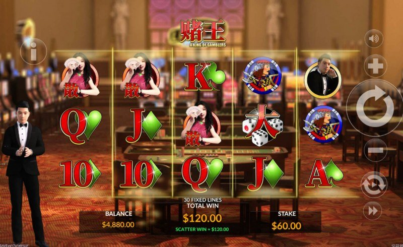 A King of Gamblers :: Scatter symbols triggers the free spins feature