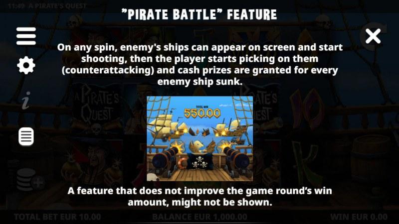 A Pirate's Quest :: Pirate Battle Feature