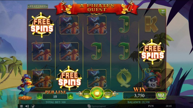 A Pirate's Quest :: Scatter symbols triggers the free spins feature