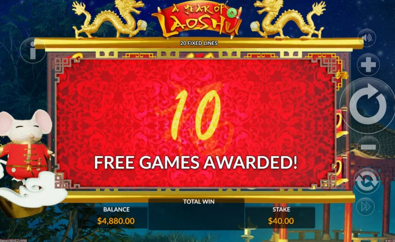 A Year of Laoshu :: 10 Free Spins Awarded