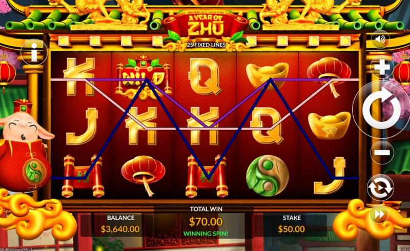 A Year of Zhu :: Multiple winning paylines