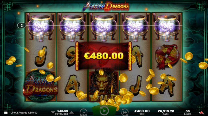 Action Dragons :: Total Free Spins Payout