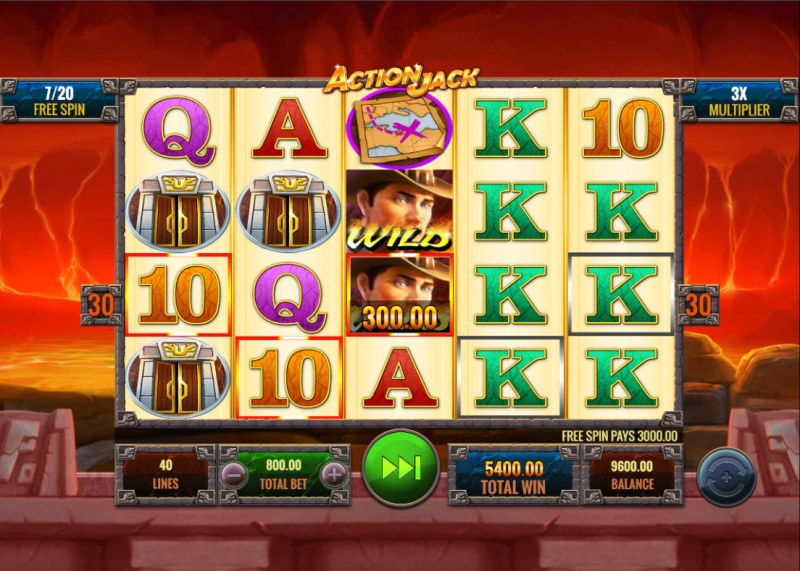 Action Jack :: Free Spins Game Board