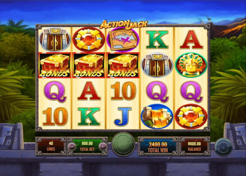 Action Jack :: Scatter symbols triggers the free spins bonus feature