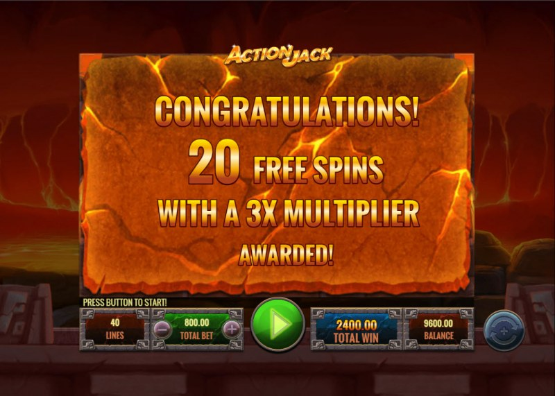 Action Jack :: 20 free spins awarded