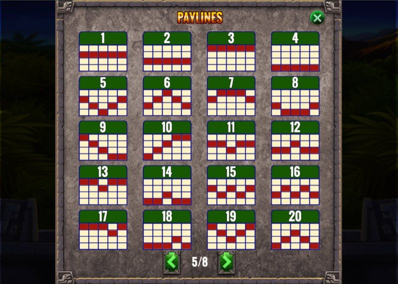 Action Jack :: Paylines 1-20