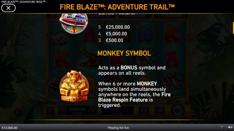 Adventure Trail Fire Blaze Jackpots :: Bonus Game Rules