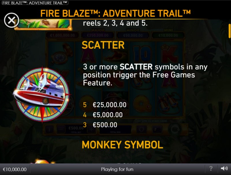 Adventure Trail :: Scatter Symbol Rules