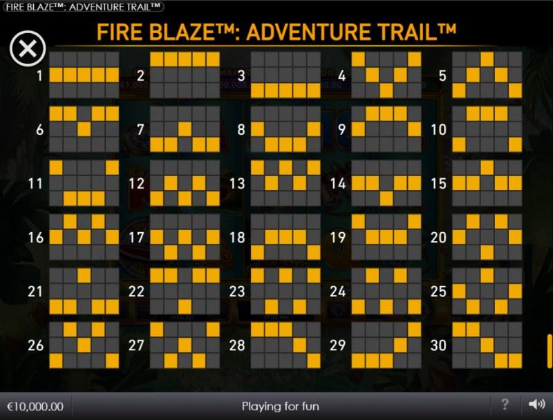 Adventure Trail :: Paylines 1-30