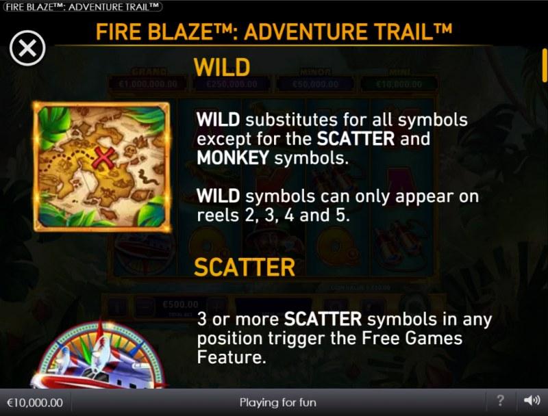 Adventure Trail :: Wild Symbol Rules