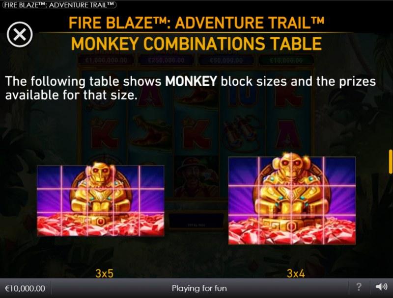 Adventure Trail :: Monkey Combination Table