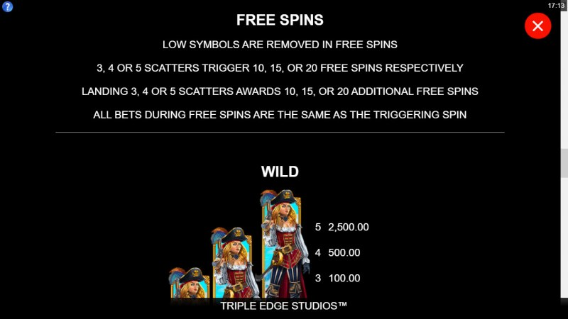 Adventures of Doubloon Island :: Free Spin Feature Rules