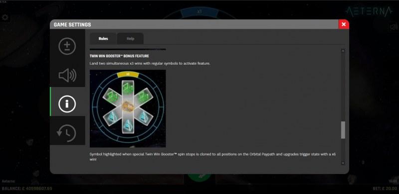 Aeterna :: Twin Win Booster Bonus Feature