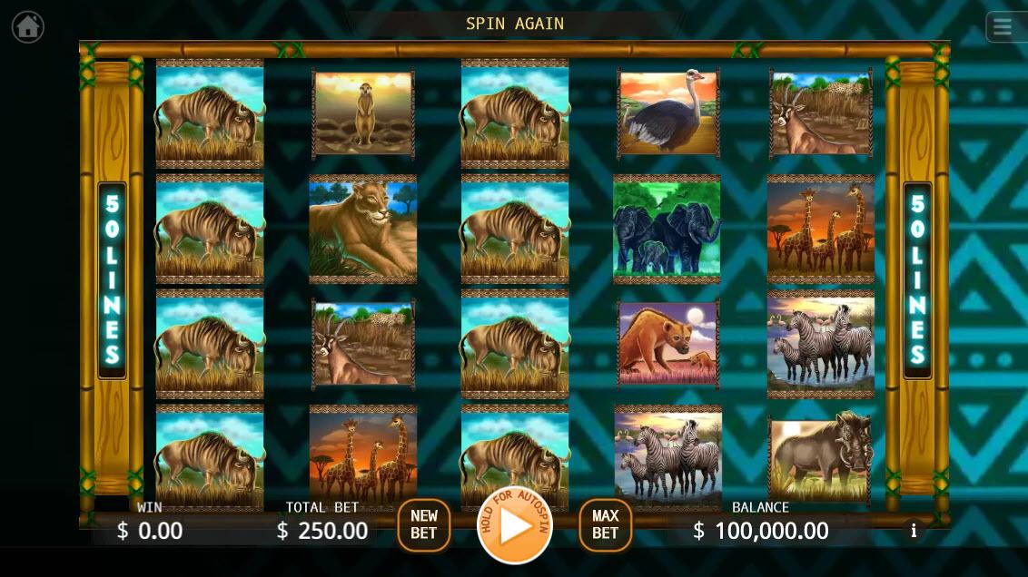 Africa Run :: Main Game Board