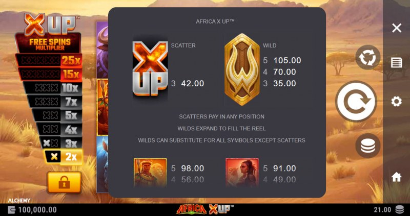 Africa X Up :: Wild and Scatter Rules