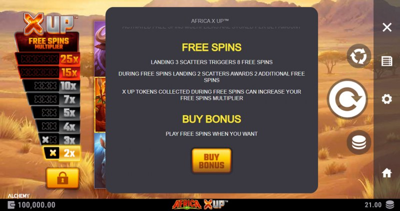 Africa X Up :: Free Spin Feature Rules