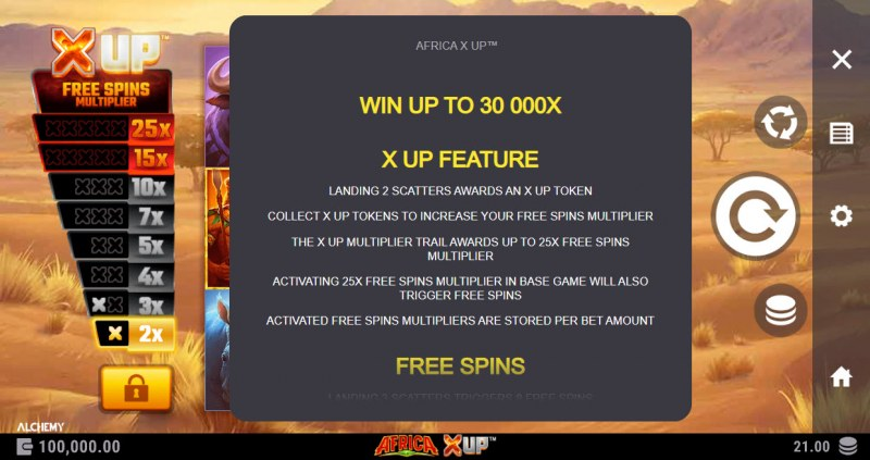 Africa X Up :: Feature Rules