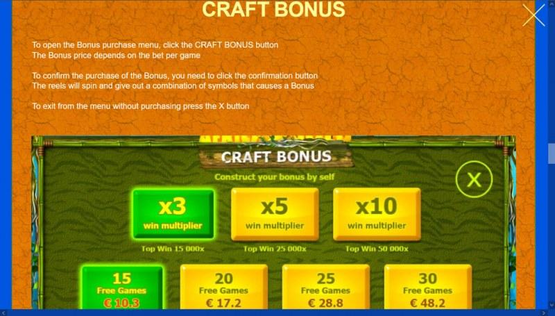 African Gold 2 :: Craft Bonus