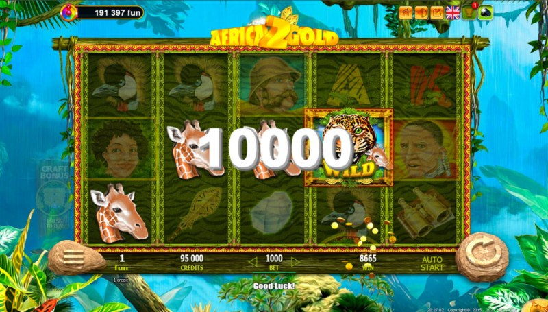African Gold 2 :: A four of a kind win