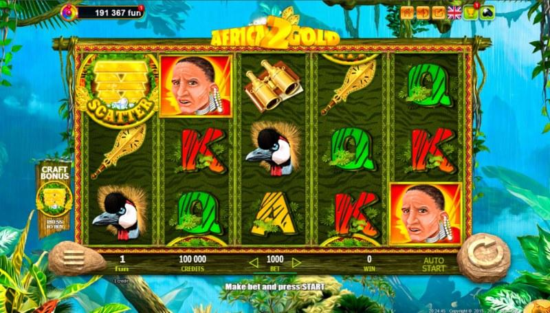 African Gold 2 :: Main Game Board