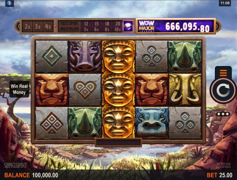 African Legends Wow Pot :: Main Game Board