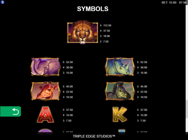 African Quest :: Paytable - High Value Symbols