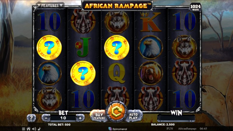 African Rampage :: Mystery Coin feature