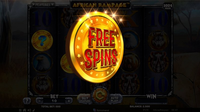 African Rampage :: Free Spins awarded