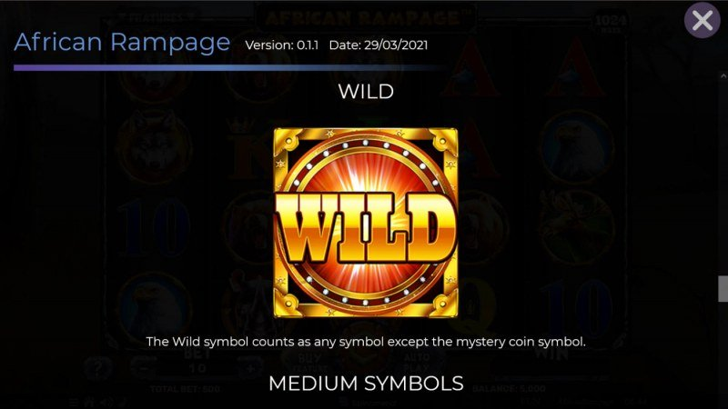 African Rampage :: Wild Symbol Rules