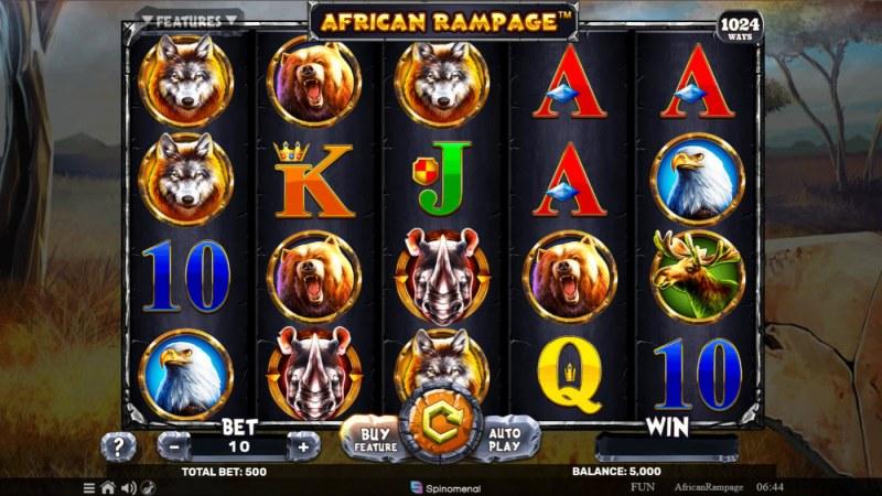 African Rampage :: Main Game Board