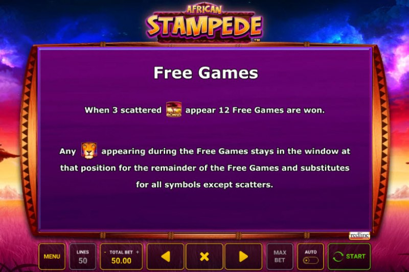 African Stampede :: Free Spins Rules