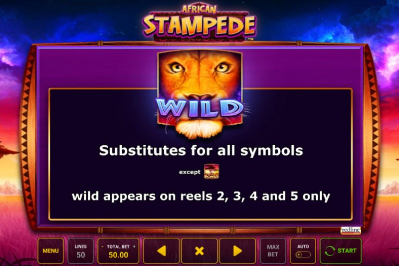 African Stampede :: Wild Symbols Rules