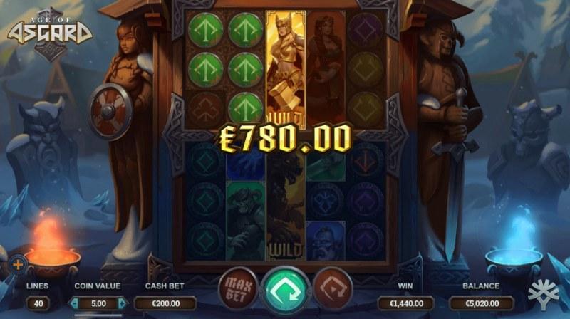 Age of Asgard :: Multiple winning paylines