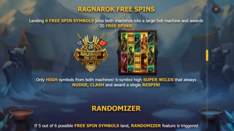 Age of Asgard :: Free Spins Rules