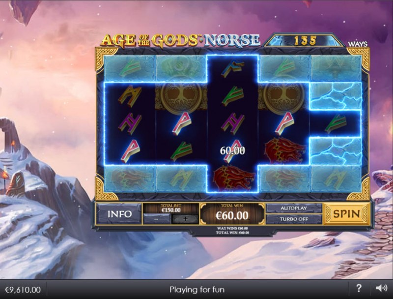 Age of the Gods Norse Ways of Thunder :: A four of a kind win