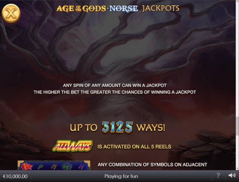 Age of the Gods Norse Ways of Thunder :: Jackpot Rules