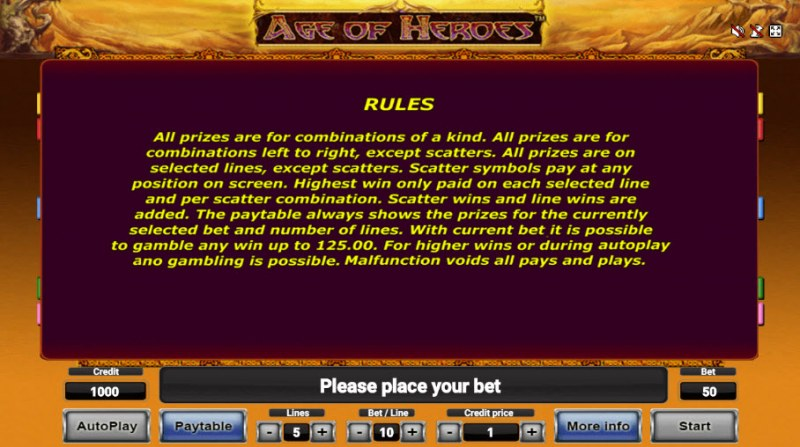 Age of Heroes :: General Game Rules
