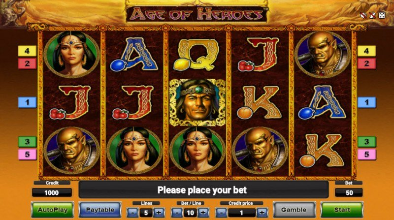 Age of Heroes :: Main Game Board