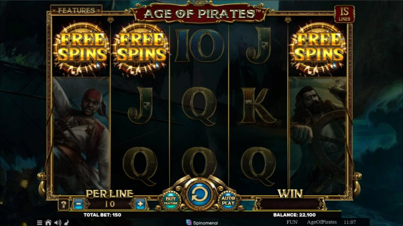 Age of Pirates 15 Lines :: Scatter symbols triggers the free spins bonus feature